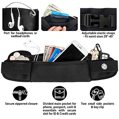 ddef5d3a57a5 LEATHER FANNY PACK Travel Waist Bag Pouch Large Cell Holder ...