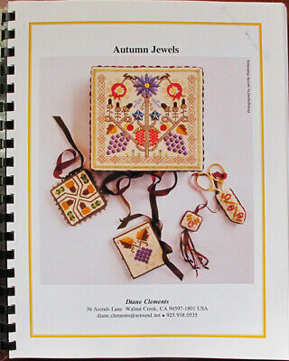 Diane Clements Autumn Jewels Box Top and Needlework Smalls Chart/Pattern