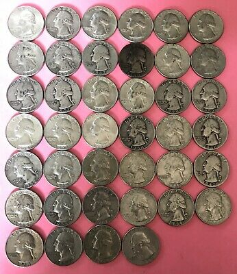 Roll Of Washington Quarters 90% Silver (40 Coins) $10 Face Value