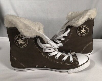 9735dd322754 Converse Chuck Taylor All Star Dainty Suede Leather Shearling Morel Grey  540306c