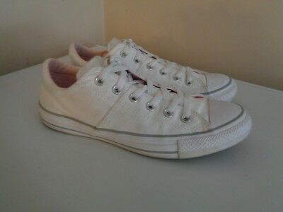 "Converse All Star White Canvas Low Tops Women""S Sz 10M~Great Condition"