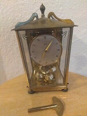 Vintage Schatz 400 Day Anniversary Clock for Parts or Repair Germany with key