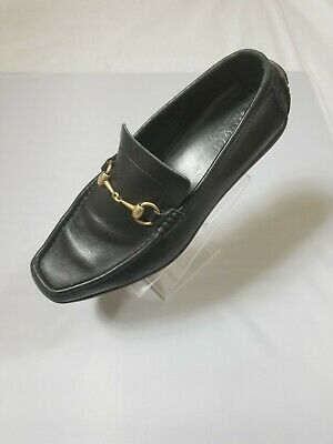 c9954df03 Gucci Horsebit Mocassin Loafers Black leather Shoes Size 9 Made In Italy