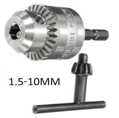 Pro 0.6mm-8.5mm Drill Chuck Converter 3/8 Inch 24UNF With 1/4 Hex Shank Adapter