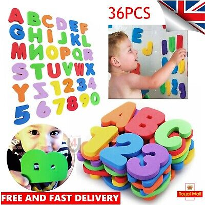 36 Pcs Foam Bath Numbers And Letters Child 123 Abc Kids Bath Toy Water Fun Uk
