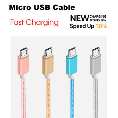 FAST CHARGING Premium Braided 1M~1.5M Micro USB Cable For Android