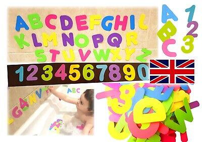 Baby Kids Toddlers ABC 123 EVA Foam Letters Alphabet Numbers Bath Tub Education