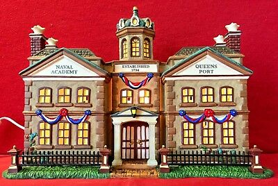 Naval Academy Queens Port Dept 56 Dickens Village 58713 Christmas London city A