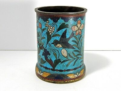 Very Early Chinese Cloisonne Brush Pot - circa 19th Century
