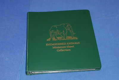 Republic of Guinea Endangered Animal Miniature sheet collection in album nice
