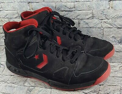 8c9222ee2a21 Converse EVO Men s Black Red High Top Athletic Lace-Up Basketball Shoes Size  13