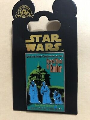 Disney Pin Star Wars Poster Forest Moon of Endor Return of the Jedi Episode VI