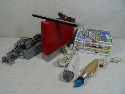 Nintendo Wii Console with Wii Sports & 5 Extra Games, Microphone & Epic Mickey