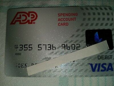 ADP  'Spending Account'  VISA  Card - Collectible