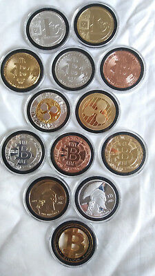 13 Cryptocurrency Commemorative Coins Like Bit coin Casascius Lealan.IN HAND USA