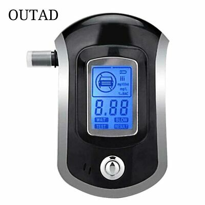 Professional Digital Breath Alcohol Tester Breathalyzer with LCD Dispaly with 5