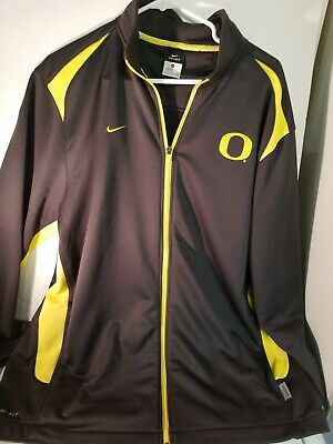 c5ca4f79 Oregon Ducks Mens Nike Dri-fit Pullover Size XL Green Full Zip Long Sleeve