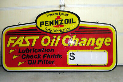 "PENNZOIL Oil Change Sign, 6 ft. x 3 ft., ""Primo"""