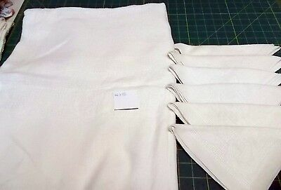 "Vintage 66"" X 82"" Linen/Cotton Ivory Tablecloth & 6 Matching Napkins"