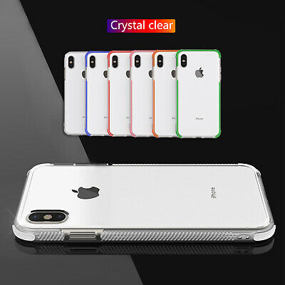 For iPhone 8 Plus Case 7+ XS Max XR Transparent Thin Clear Soft Silicone Cover