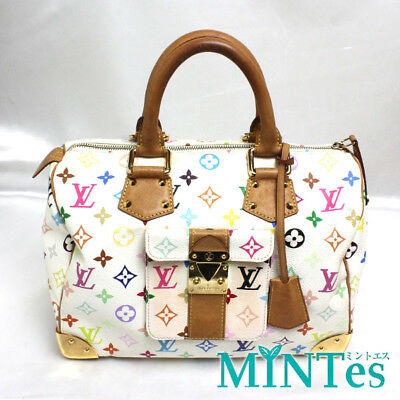 bf5eaad06c0e  Louis Vuitton  Monogram Multicolor Speedy 30 Handbag M92643 Bron Louis  Vuitton