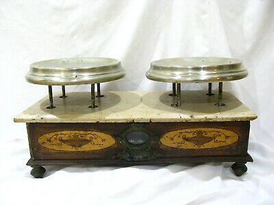 19th century Antique French Wood & Marble Apothecary Drug Store Balance Scale