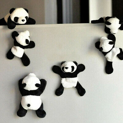 1Pc Plush Panda Fridge Magnet Refrigerator Sticker Gift Souvenir Decor Divine TR