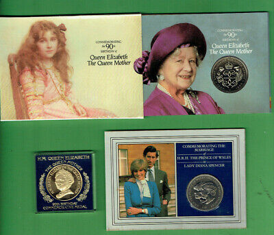 #C39.   Queen Mother & Lady Diana Coins & Medal