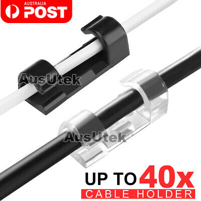 20/40 PCS Self-Adhesive Cable Clips Holder Cord Wire Line Management Organizer