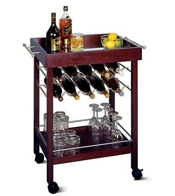 Mini Bar Cart Rolling Serving Carts Small Kitchen Trolley