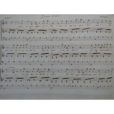 Recueil Partitions manuscrites 100 pièces Chant Piano ca1840 partition sheet mus