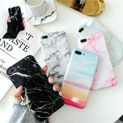 Pastel Marble Pattern Cover Case Soft Shockproof For iPhone X 6 8 7 10 Plus Max