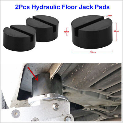 2XSUV Slotted Frame Rail Floor Rubber Jack Disk Pad for Pinch Weld Side JACKPAD