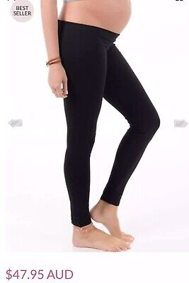 Trimester™ - Oasis Long Maternity Leggings in Black - Sz S 8 10 RRP $47