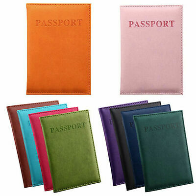 PU Leather Passport Travel Organizer Holder Card Case Protector Cover Wallet