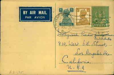 1950 Indian Postcard To Hollywood Radio & television Institue asks for Free Book
