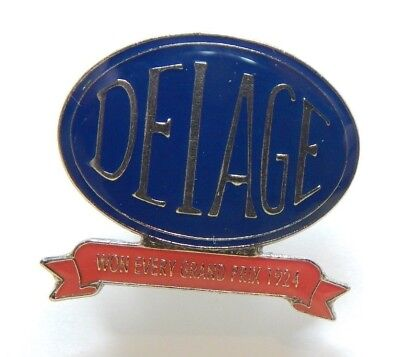 Delage Cars  Pin Badge Won Every Grand Prix in 1924