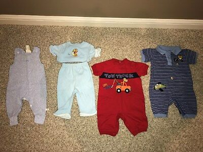 Baby Boys 3-6 Month Clothes 5 Pc Clothes Lot Spring Summer Outfits Euc!