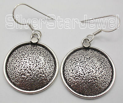 """925 Sterling Silver ANCIENT STYLE DANGLING New Earrings 1.7"""" ONE OF A KIND"""