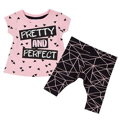 Baby Girls Cotton Tunic T-Shirt + Leggings Summer Outfit 2 pcs Newborn Gift Set