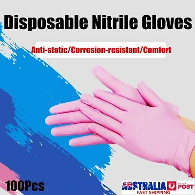 100Pcs S/M/L Disposable Nitrile Gloves Rubber Latex Cleaning Mechanic Medical