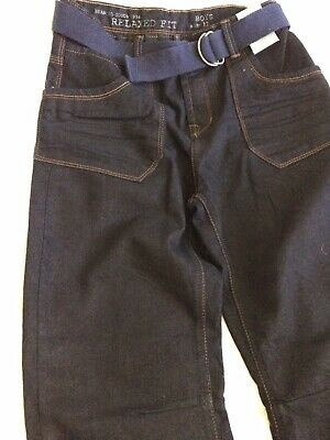 NEW Indigo Dark Blue Jeans boys age 11-12 BNWT
