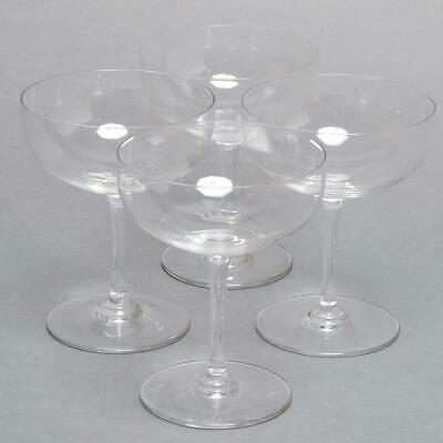 """Set Of 4 Baccarat Crystal """"perfection"""" Champagne/sherbet Glasses"""