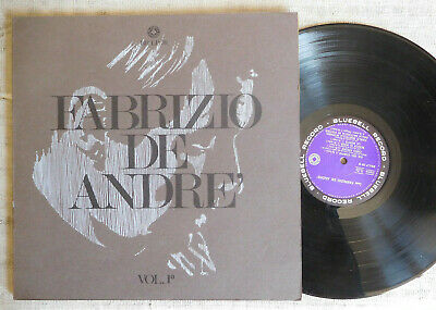 Fabrizio De André ‎– Volume 1° Bluebell Record  LP ORIGINALE 1967 cop. apribile