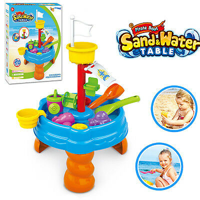20 pcs Sand and Water Table Garden Sandpit Toy Watering Can Figures Play Set