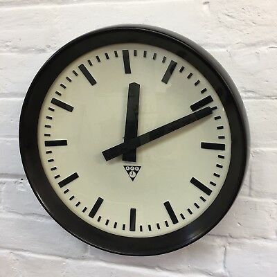 Industrial Vintage Original Czech Pragotron Wall Station Kitchen Clock