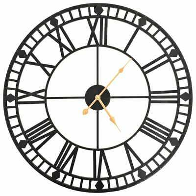 vidaXL Vintage Wall Clock with Quartz Movement Metal 60cm XXL Home Timer Decor~