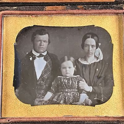 Circa 1845 Akron, Ohio Mayor General Civil War George McNeil Photo Daguerreotype