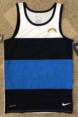 c63398ca8d37 Size Large L Nike Mens Sleeveless Tank Top Blue White NFL Los Angeles  Chargers