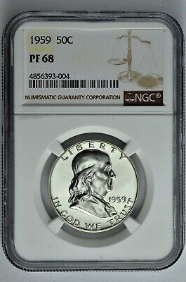 1959 50c Silver Proof Franklin Half Dollar NGC PF 68